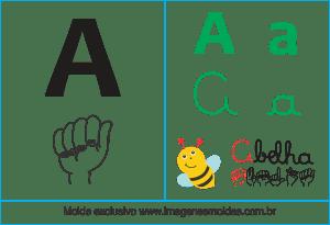 Imagens, Cartazes de Letra A em Libras - Letra A