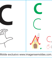 Imagens, Cartazes de Letra C em Libras - Letra C