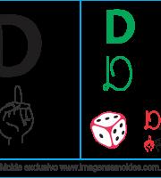 Imagens, Cartazes de Letra D em Libras - Letra D