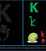 Imagens, Cartazes de Letras em Libra Letra K - Letra K Alfabeto
