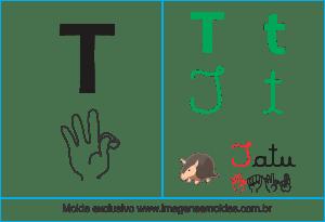 Imagens, Cartazes de Letras em Libra Letra T - Letra T Alfabeto
