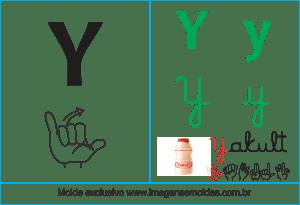 Imagens, Cartazes de Letras em Libra Letra Y - Letra Y Alfabeto