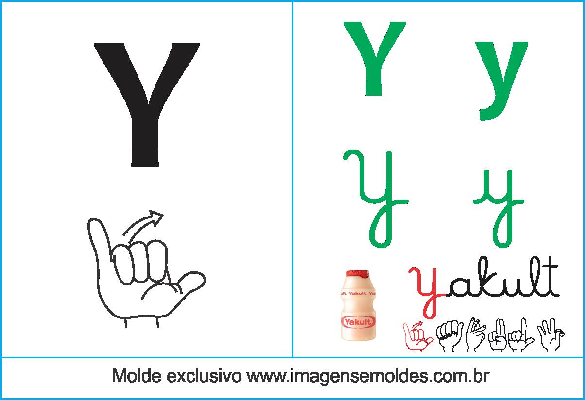 Imagens Cartazes De Letras Em Libras Letra Y Alfabeto