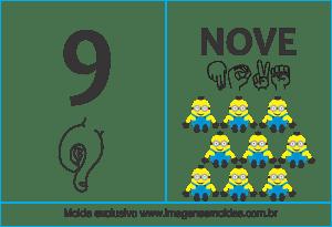 Imagens de Números em Libras Número 9
