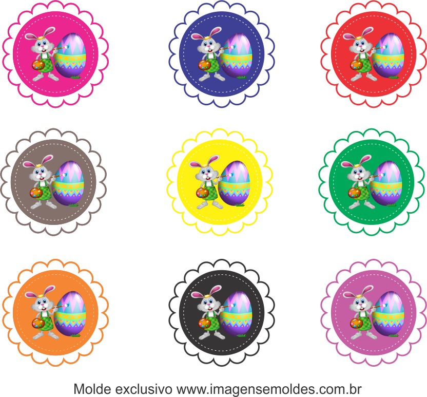 Tags Grátis Páscoa para Imprimir 1, Ostern-Tag-Vorlage, easter tag template, plantilla de etiqueta de Pascua