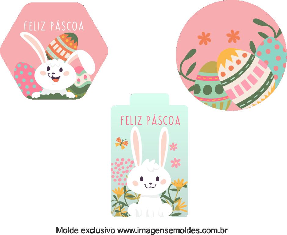Tags Grátis Páscoa para Imprimir 3, Ostern-Tag-Vorlage, easter tag template, plantilla de etiqueta de Pascua