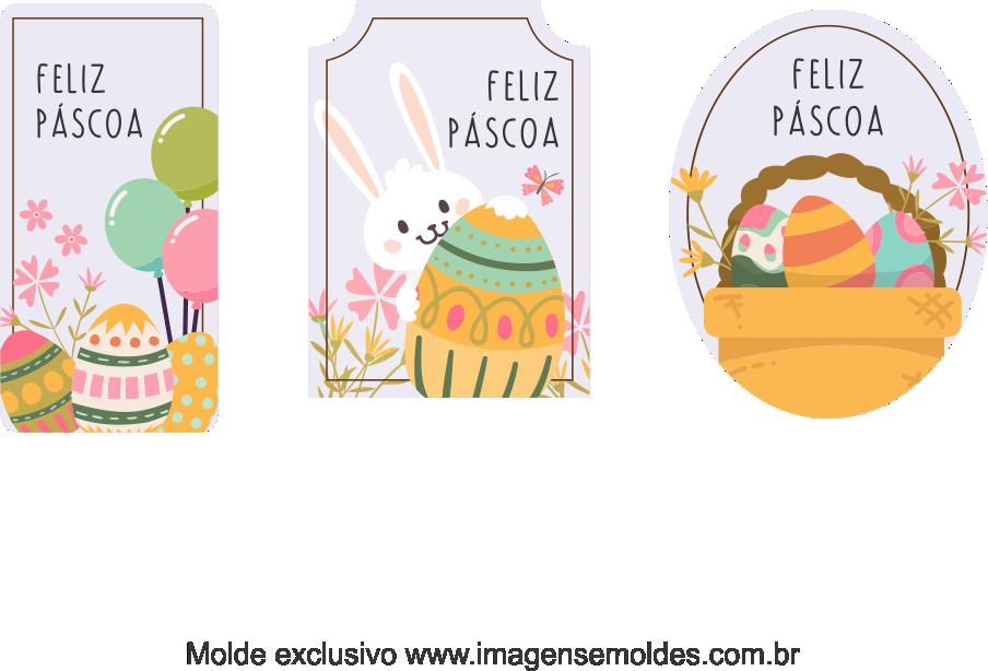 Tags Grátis Páscoa para Imprimir 4, Ostern-Tag-Vorlage, easter tag template, plantilla de etiqueta de Pascua