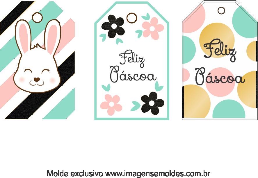 Tags Grátis Páscoa para Imprimir 6, Ostern-Tag-Vorlage, easter tag template, plantilla de etiqueta de Pascua