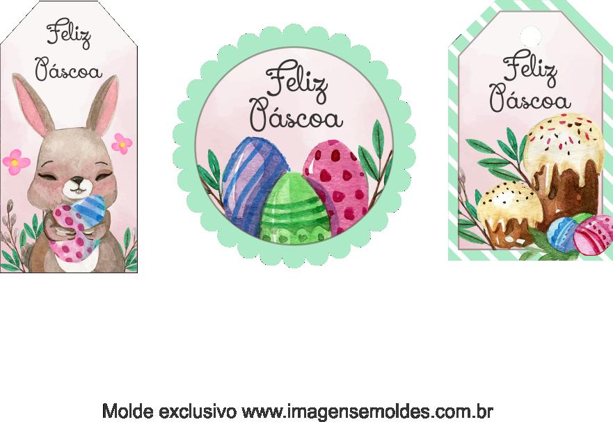 Tags Grátis Páscoa para Imprimir 7, Ostern-Tag-Vorlage, easter tag template, plantilla de etiqueta de Pascua