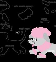 Molde de cachorro2, para eva, feltro e artesanato