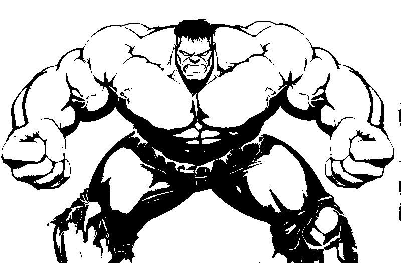 Desenhos Para Colorir Hulk