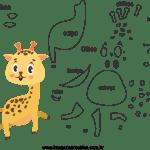 Molde de animal girafa 1 para Eva, Feltro e Artesanato