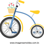 imagem bicicleta com flores vetorizada 01