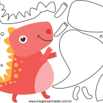 Molde de Dinossauro para Feltro, Eva e Artesanato 6