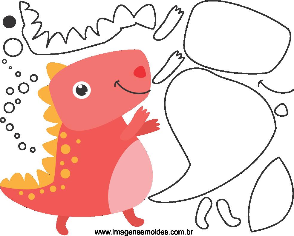 Molde de Dinossauro para Feltro, Eva e Artesanato, molde de dinosaurio, Dinosaurierform, dinosaur mold