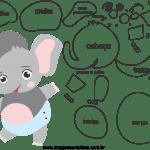 Molde de animal bebê, elefante, para Eva, Feltro e Artesanatos