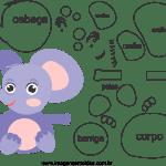 Molde de animal bebê, elefante2, para Eva, Feltro e Artesanato