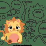 Molde de animal bebê, leão 2, para Eva, Feltro e Artesanato