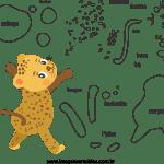 Molde de animal onça 2 para Eva, Feltro e Artesanato