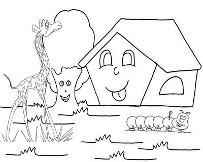 Desenhos Para Colorir Casa E Natureza
