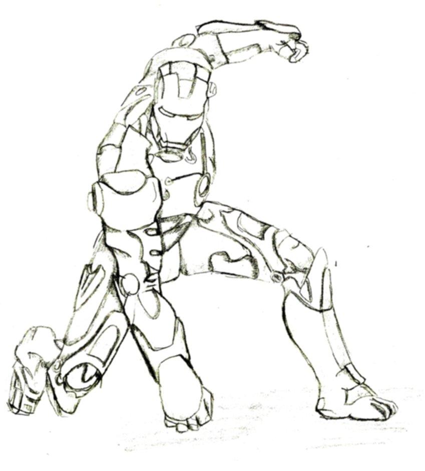 Desenhos Para Colorir Adoravel Homem De Ferro