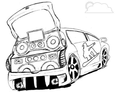 Desenhos Para Colorir Carros Tunados