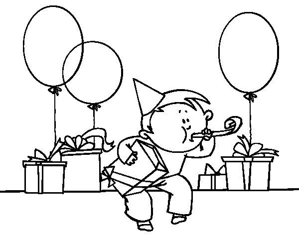Desenhos Para Colorir Festa De Aniversário