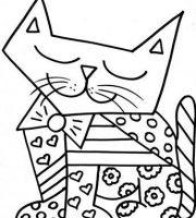Arquivos Desenhos Para Colorir Gato Romero Brito