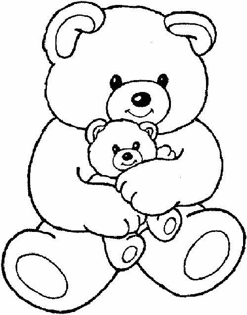 Desenhos Para Colorir Ursinho Com Filhote