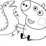 Desenhos Infantil para Colorir da Peppa Pig