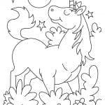 Desenhos Infantil para Colorir de Unicórnio
