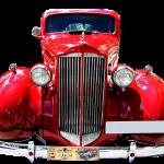 Imagem de Carro Antigo Vermelho em PNG para Imprimir