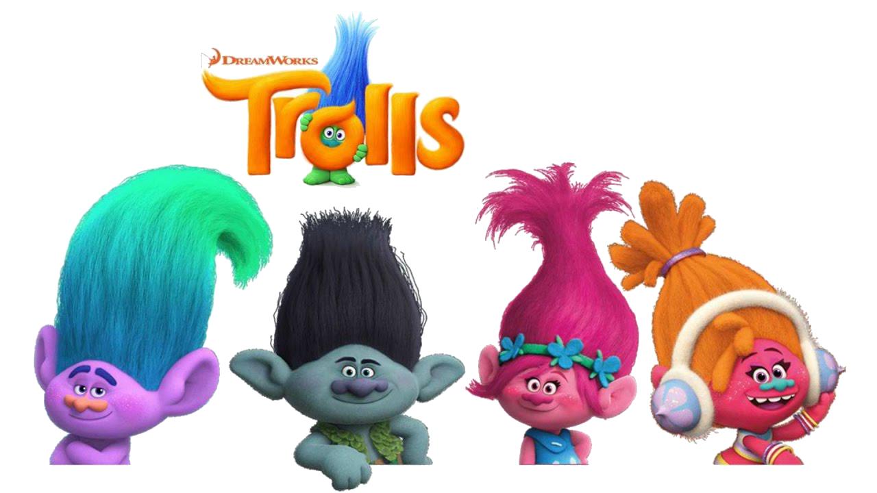 Images Trolls logo 02 - Personagens do Filme Trolls