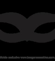 Molde de Carnaval - Máscara 10 - Molde para EVA - Feltro
