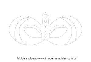Molde de Carnaval - Máscara 2 - Molde para EVA - Feltro