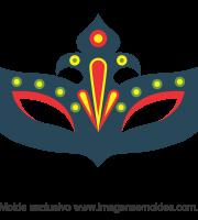 Molde de Carnaval - Máscara 3 - Molde para EVA - Feltro