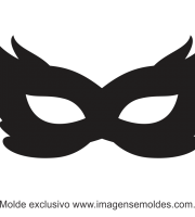 Molde de Carnaval - Máscara 4 - Molde para EVA - Feltro