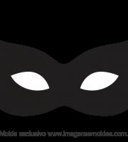 Molde de Carnaval - Máscara 7 - Molde para EVA - Feltro