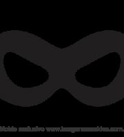 Molde de Carnaval - Máscara 9 - Molde para EVA - Feltro