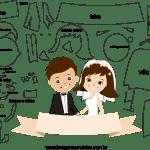 Molde de  Casamento 3 para Feltro – EVA e Artesanato