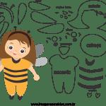 Molde de Abelha 1 para Feltro – EVA e Artesanato