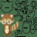 Molde de animal esquilo 1 para Eva, Feltro e Artesanato