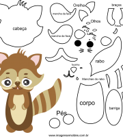 Molde de Animal , esquilo 1 para feltro, eva e artesanato
