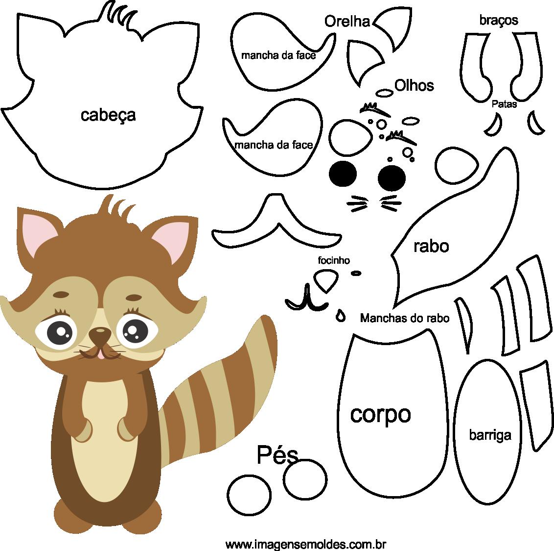 Molde de Animal , esquilo 1 para feltro, eva e artesanato, Eichhörnchenform, molde de ardilla, squirrel mold