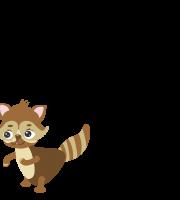 Molde de esquilo 2 para eva, feltro e artesanato