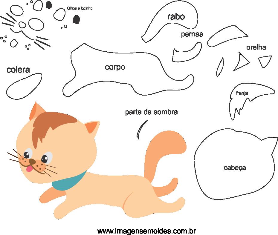 Molde de gato 3 para Eva, Feltro e Artesanato, cat mold, Katzenform, molde de gato