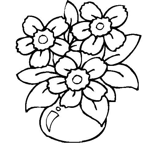 Desenhos Para Colorir Jarro De Flores
