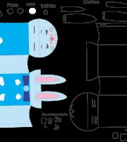 Molde de caixa de coelho 2 para eva, feltro e artesanato