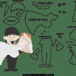 Molde de  Casamento 1 para Feltro – EVA e Artesanato