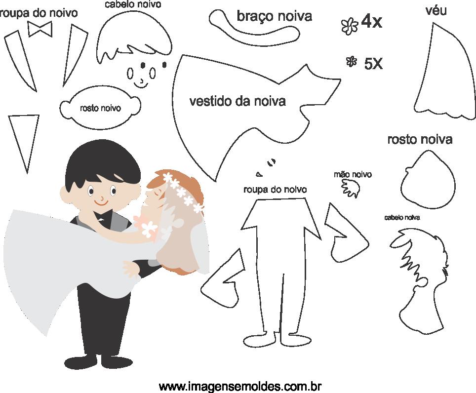 Molde de casamento 1 para eva, feltro e arteasnato, wedding mold, Hochzeitsform, molde de boda